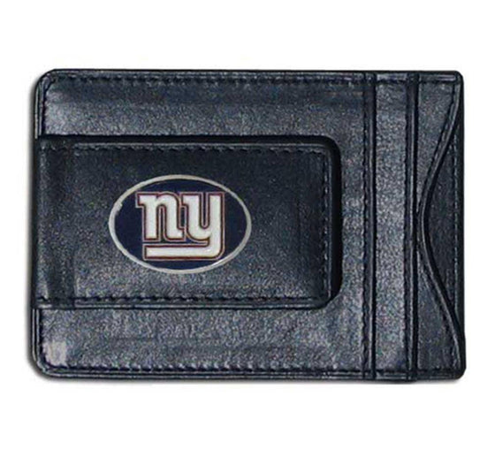 NFL New York Giants Leather Money Clip Cash & Cardholder - 757 Sports Collectibles
