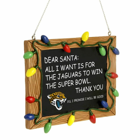 Forever Collectibles - NFL - Chalkboard Sign Christmas Ornament - Pick Your Team (Jacksonville Jaguars)