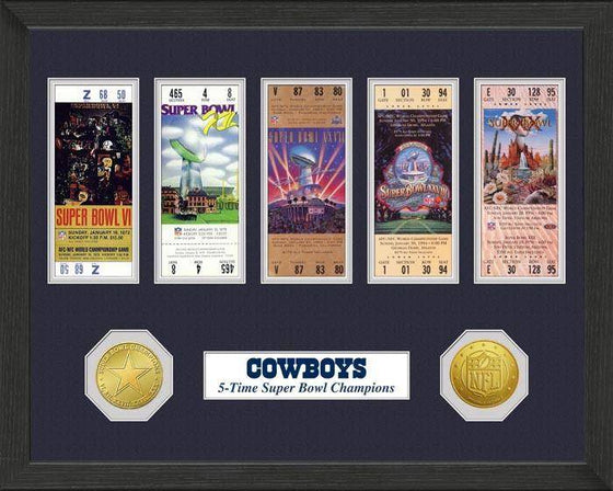 NFL Dallas Cowboys Super Bowl Ticket & Coin Collection