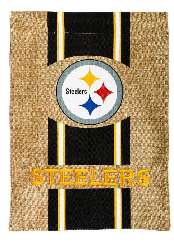 NFL Pittsburgh Steelers Official NFL 12.5 inch x 18 inch Team Burlap Garden Flag