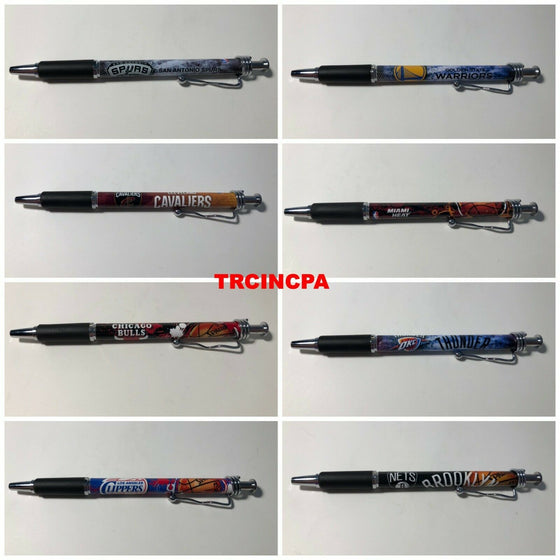Officially Licensed NBA Ball Point Pen(4 pack) - Pick Your Team - FREE SHIPPING