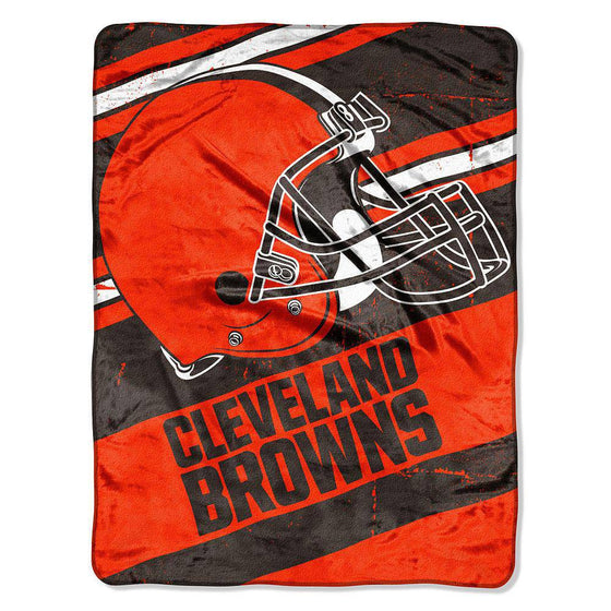 NFL Cleveland Browns NFL Deep Slant 46 x60 Micro Raschel Throw Plush Blanket