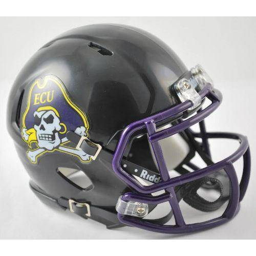 East Carolina Pirates Black Speed Mini Helmet