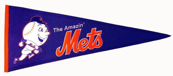 "New York Mets 32"" Wool Embroidered Cooperstown Pennant"