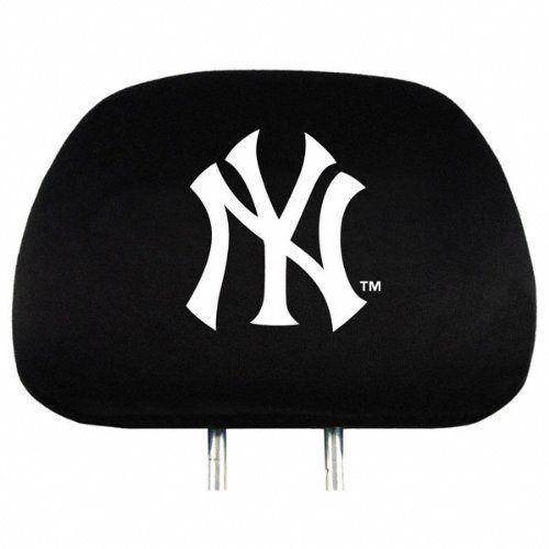 MLB Licensed Baseball  New York Yankees Head Rest Covers Universal Set of 2 - 757 Sports Collectibles