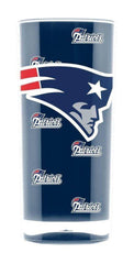 NFL New England Patriots 16oz Insulated Square Acrylic Tumbler
