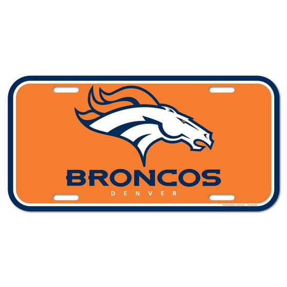 Wincraft - NFL - Plastic License Plate - Pick Your Team - FREE SHIP (Denver Broncos)