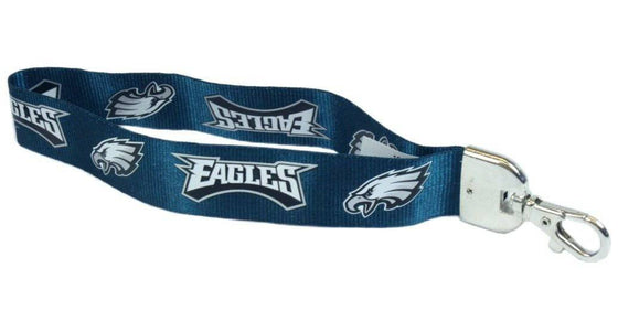 "Philadelphia Eagles Wrist Lanyard 9"" Key Fob Key Chain"