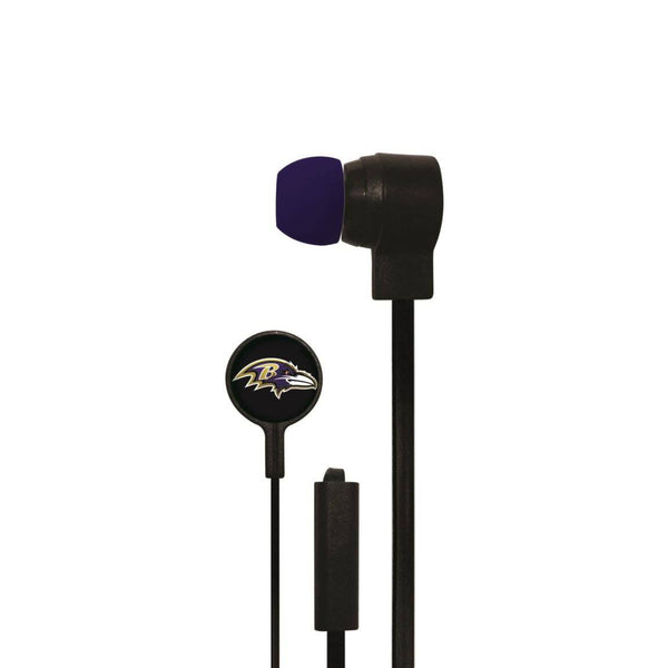 Baltimore Ravens Big Logo Earbud Headphones with Microphone