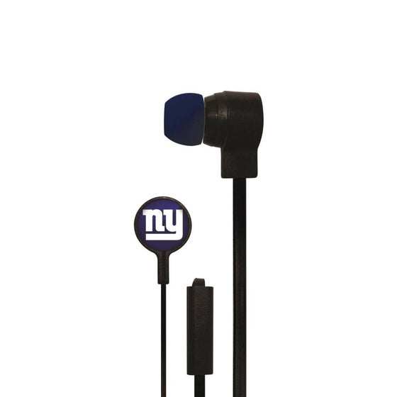 New York Giants Big Logo Earbud Headphones with Microphone