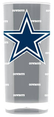 NFL Dallas Cowboys 16oz Insulated Square Acrylic Tumbler