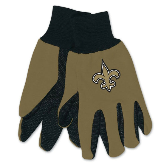 NFL-Wincraft NFL Two Tone Cotton Jersey Gloves- Pick Your Team - FREE SHIPPING (New Orleans Saints)