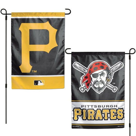 MLB 12x18 Garden Flag Double Sided - Pick Your Team - FREE SHIPPING (Pittsburgh Pirates)