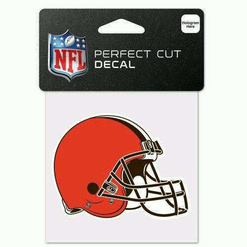 Cleveland Browns Perfect Cut 4x4 Diecut Decal