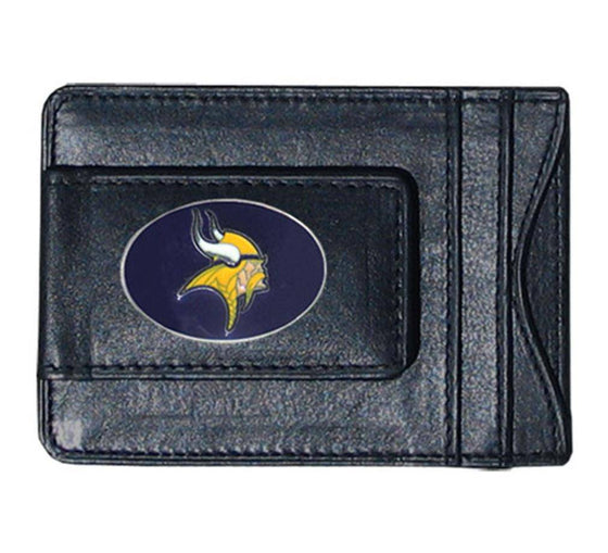 NFL Minnesota Vikings Leather Money Clip Cash & Cardholder - 757 Sports Collectibles