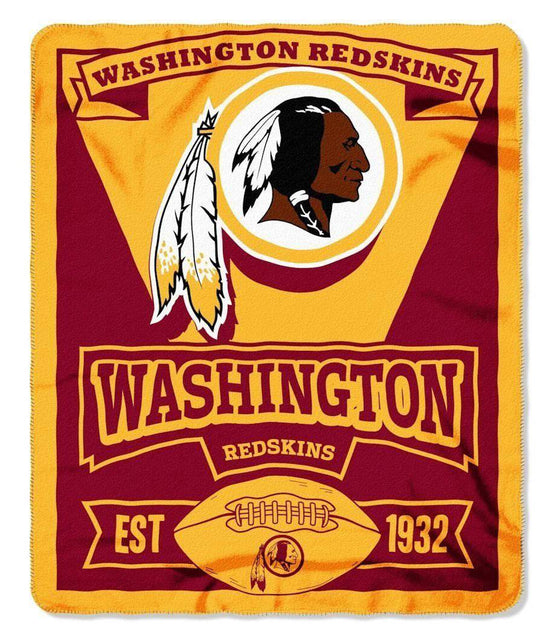 "NFL Washington Redskins 50""x60"" Marque Design Fleece Blanket"