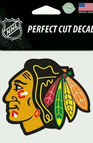 Chicago Blackhawks Perfect Cut 4x4 Diecut Decal