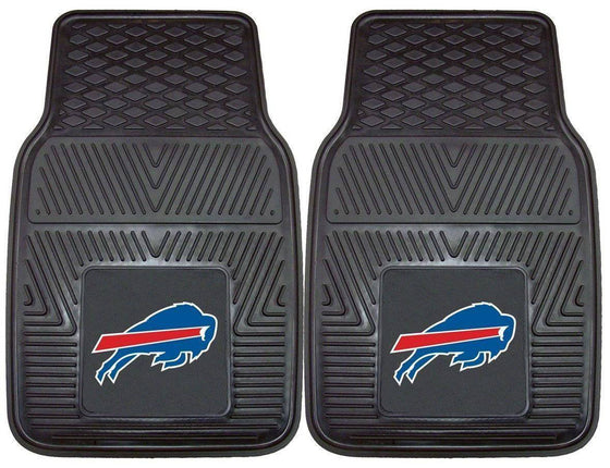 NFL Buffalo Bills Heavy Duty Vinyl Front Seat Car Mats - 757 Sports Collectibles