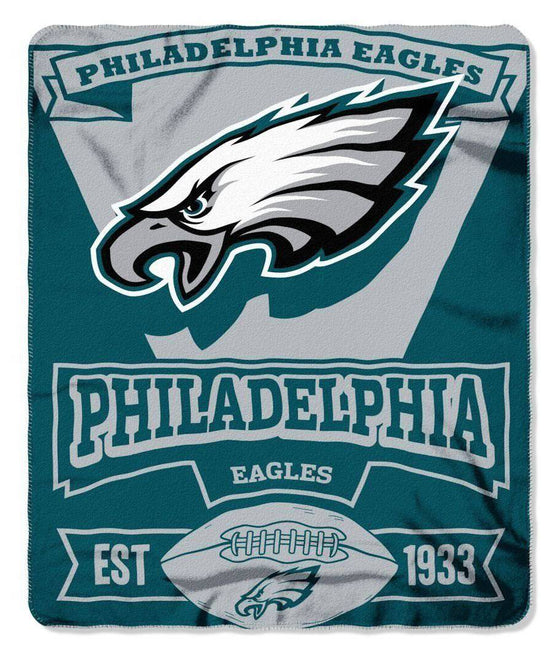 "NFL Philadelphia Eagles 50""x60"" Marque Design Fleece Blanket"