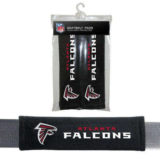NFL Atlanta Falcons Seat Belt Pad (Pack of 2) - 757 Sports Collectibles