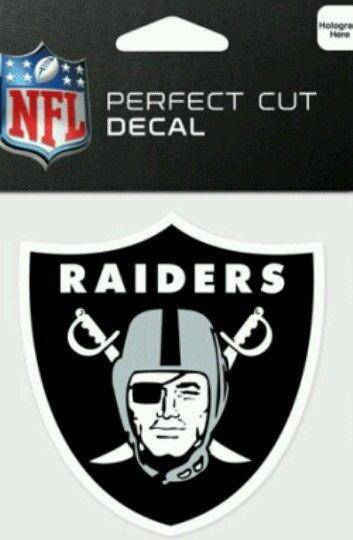 Oakland Raiders Perfect Cut 4x4 Diecut Decal