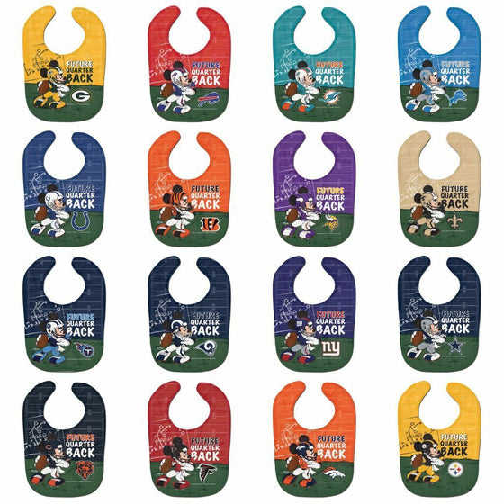 NFL Disney All Pro Baby Bib - PICK YOUR TEAM - FREE SHIPPING