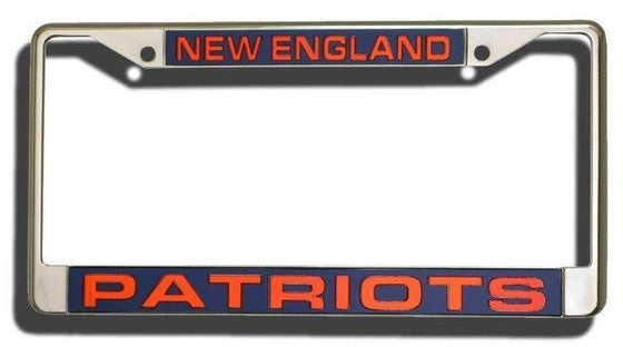 New England Patriots Laser Cut Chrome License Plate Frame
