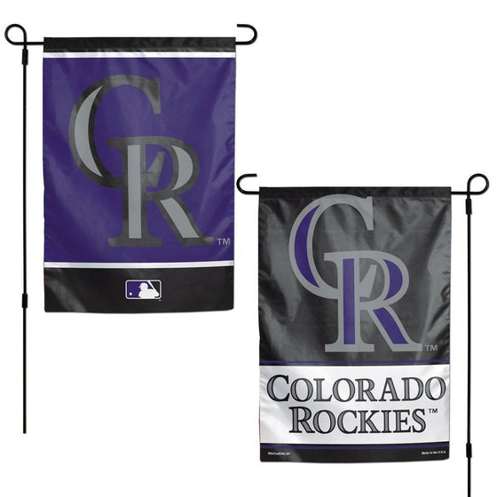 MLB 12x18 Garden Flag Double Sided - Pick Your Team - FREE SHIPPING (Colorado Rockies)