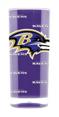 NFL Baltimore Ravens 16oz Square Insulated Acrylic Tumbler