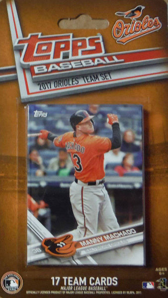 Baltimore Orioles 2017 Topps Factory Sealed Team Set Manny Machado Jones Davis