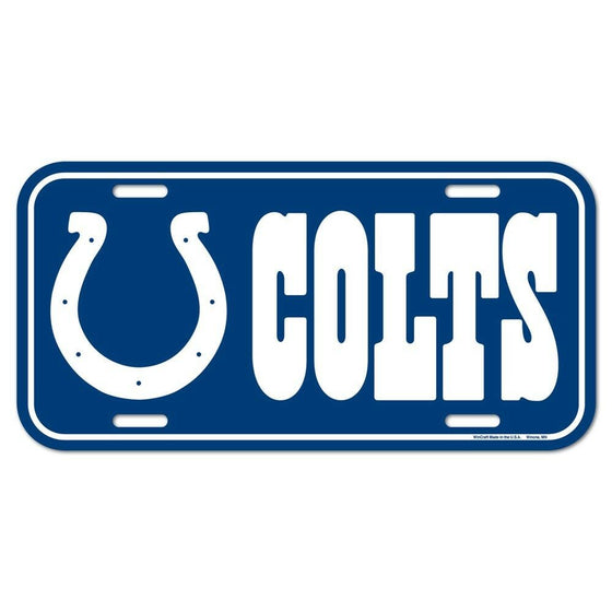 Wincraft - NFL - Plastic License Plate - Pick Your Team - FREE SHIP (Indianapolis Colts)