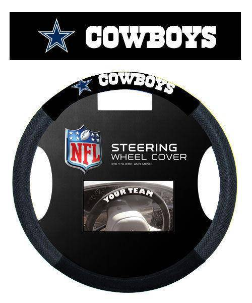 NFL Dallas Cowboys Poly-Suede Universal Steering Wheel Cover