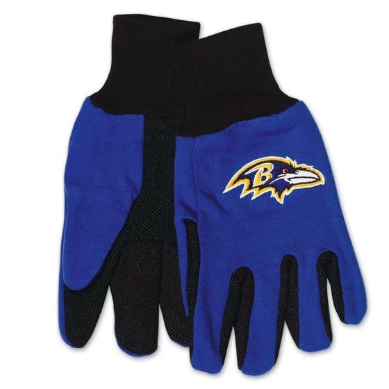 NFL-Wincraft NFL Two Tone Cotton Jersey Gloves- Pick Your Team - FREE SHIPPING (Baltimore Ravens)