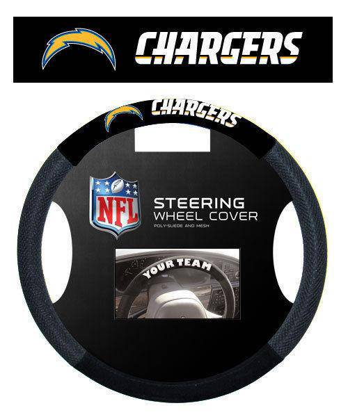 NFL San Diego Chargers Poly-Suede Universal Steering Wheel Cover - 757 Sports Collectibles