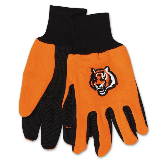 NFL-Wincraft NFL Two Tone Cotton Jersey Gloves- Pick Your Team - FREE SHIPPING (Cincinnati Bengals)