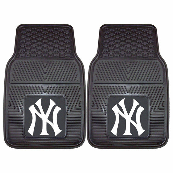 MLB New York Yankees Heavy Duty Vinyl Front Seat Car Mats