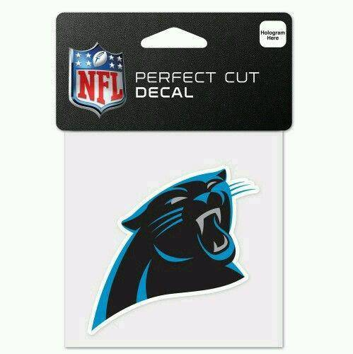 Carolina Panthers Perfect Cut 4x4 Diecut Decal