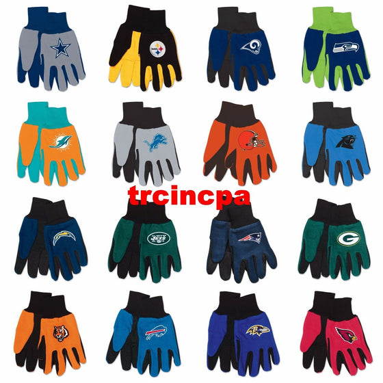 NFL-Wincraft NFL Two Tone Cotton Jersey Gloves- Pick Your Team - FREE SHIPPING