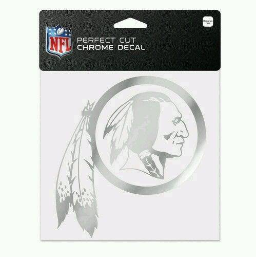 "Washington Redskins Chrome Perfect Cut 6"" Diecut Decal"