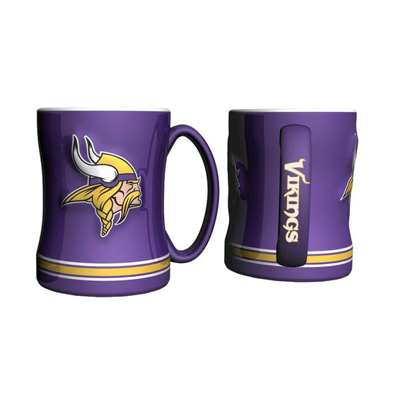 Boelter Brands NFL 14oz Ceramic Relief Sculpted Mug(1) PICK YOUR TEAM (Minnesota Vikings)