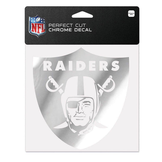 NFL Oakland Raiders 6x6 Perfect Cut Decal - Chrome