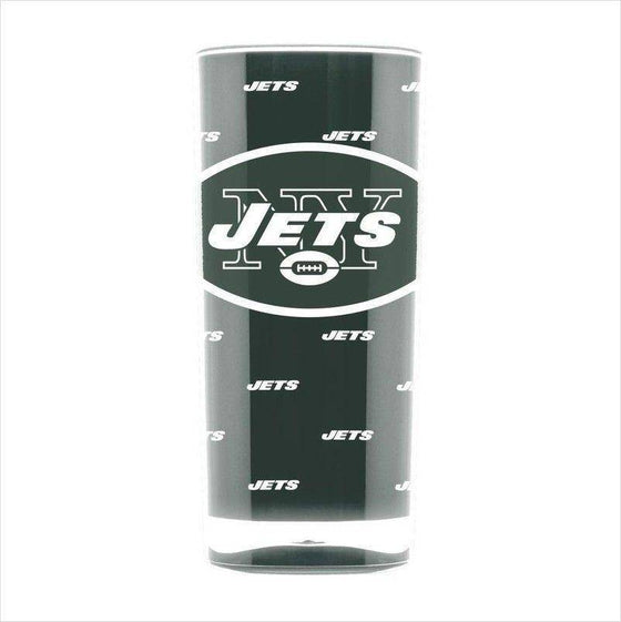 NFL New York Jets 16oz Square Insulated Acrylic Tumbler - 757 Sports Collectibles