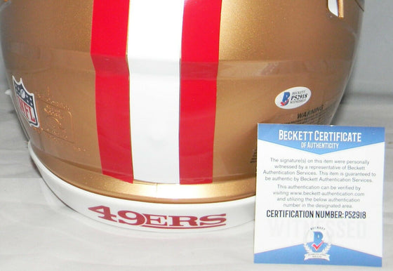 NICK BOSA SIGNED SAN FRANCISCO 49ERS FULL SIZE SPEED AUTHENTIC HELMET BECKETT