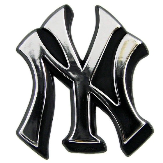 MLB New York Yankees Chrome Automobile Car Emblem - 757 Sports Collectibles