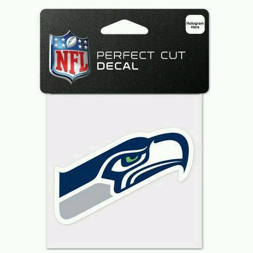 Seattle Seahawks Perfect Cut 4x4 Diecut Decal - 757 Sports Collectibles
