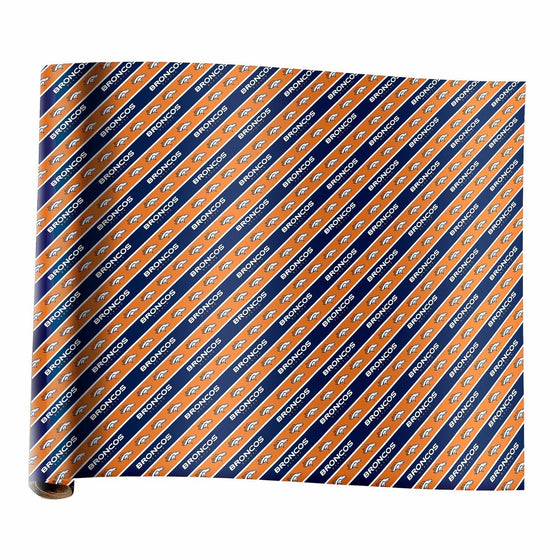 Forever Collectibles - NFL - Wrapping Paper - Roll - 20 Sq Ft (Denver Broncos)