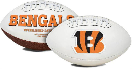 Cincinnati Bengals Embroidered Logo White Signature Series Football