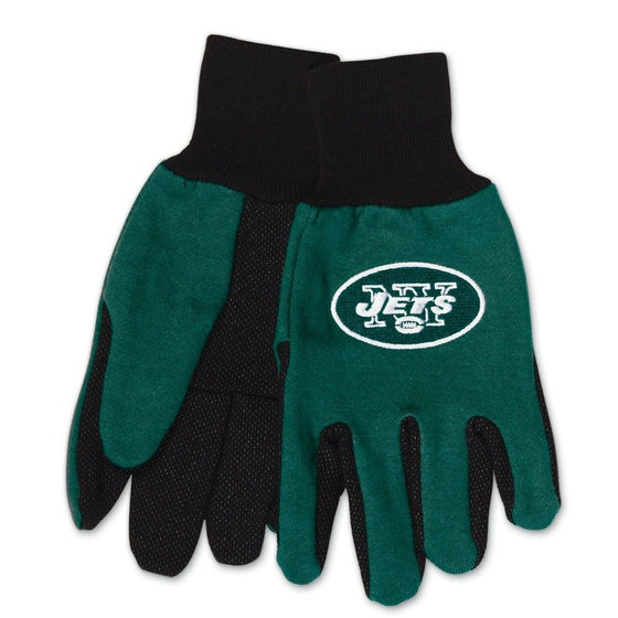 NFL-Wincraft NFL Two Tone Cotton Jersey Gloves- Pick Your Team - FREE SHIPPING (New York Jets)