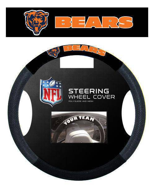NFL Chicago Bears Poly-Suede Universal Steering Wheel Cover