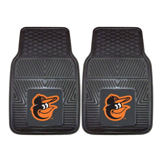 MLB Baltimore Orioles Heavy Duty Vinyl Front Seat Car Mats - 757 Sports Collectibles